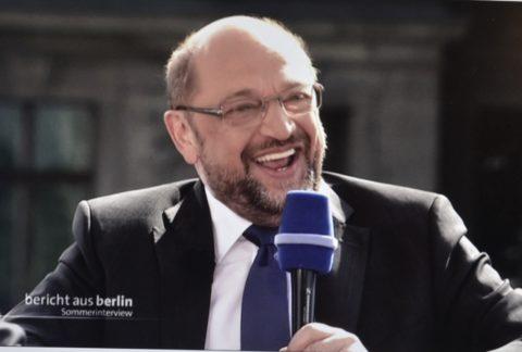Heute Hatte Er Seinen Auftritt Im ARD Sommerinterview Am Nchsten Sonntag Geht Es In Das TV Duell Mit Kanzlerin Merkel Public Viewing Brigens